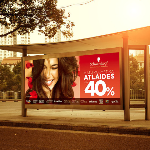 SCHWARZKOPF HAIR CARE COSMETICS CAMPAIGN FOR DROGAS STORES