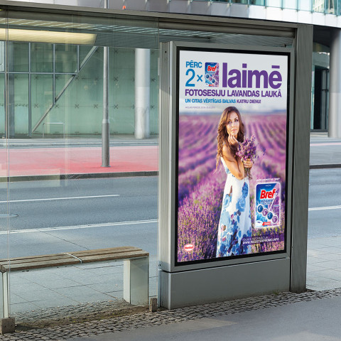 Launch campaign for a new Bref Lavender product in the Baltic states.