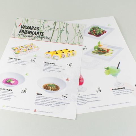 Yakuza vasaras ēdienkarte