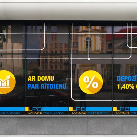 LATVIJAS PASTA BANKA windows design